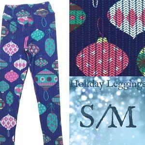 LuLaRoe KIDS 2-6 s/m Holiday Leggings ornaments